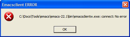 Emacs Client Windows Error